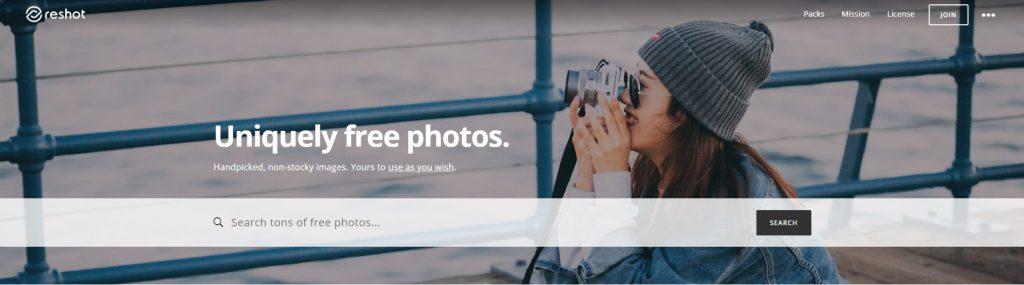 reshot sajt sa besplatnim fotografijama