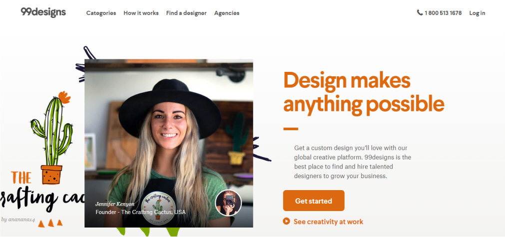 freelance platforma 99designs
