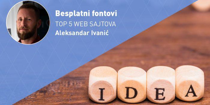 Besplatni fontovi (TOP 5 WEB SAJTOVA)