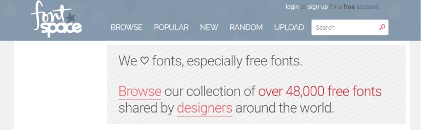 besplatni fontovi - fontspace