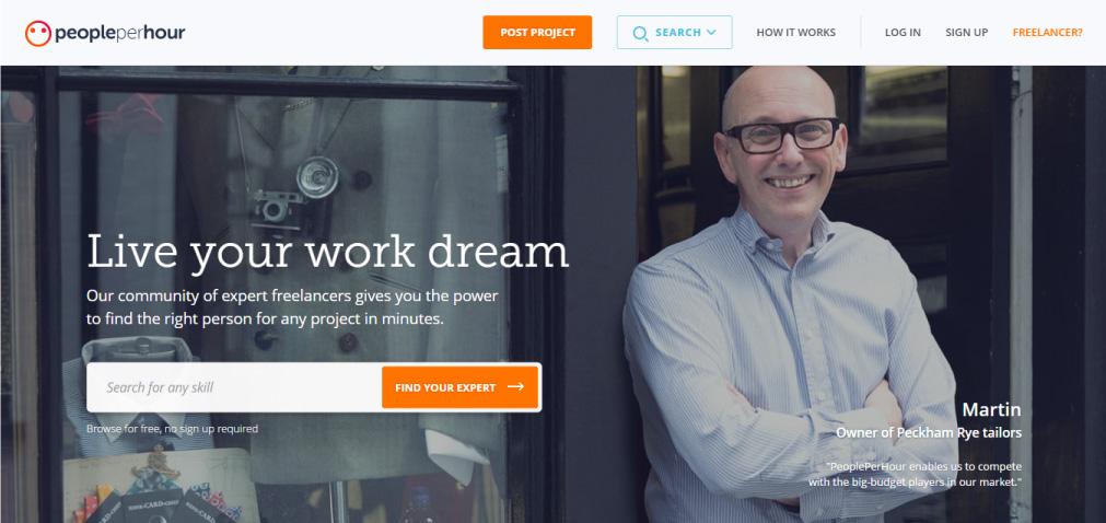 freelance posao platforma PeoplePerHour