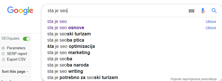 seo optimizacija google suggest