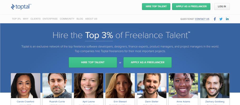 toptal freelance platforma