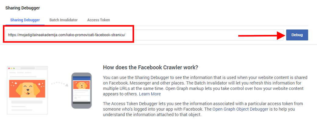 facebook link debugger alat