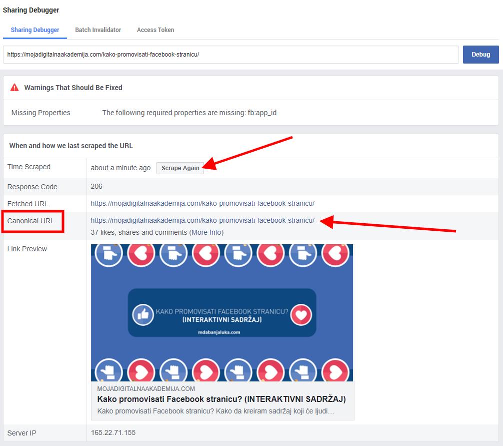 facebook link debugger korisni facebook linkovi
