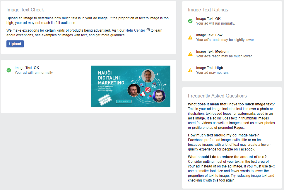 facebook text overlay