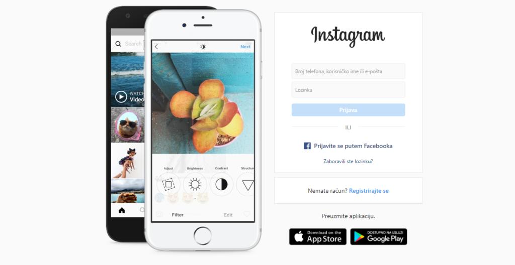 najbolji sajtovi za inspiraciju - Instagram