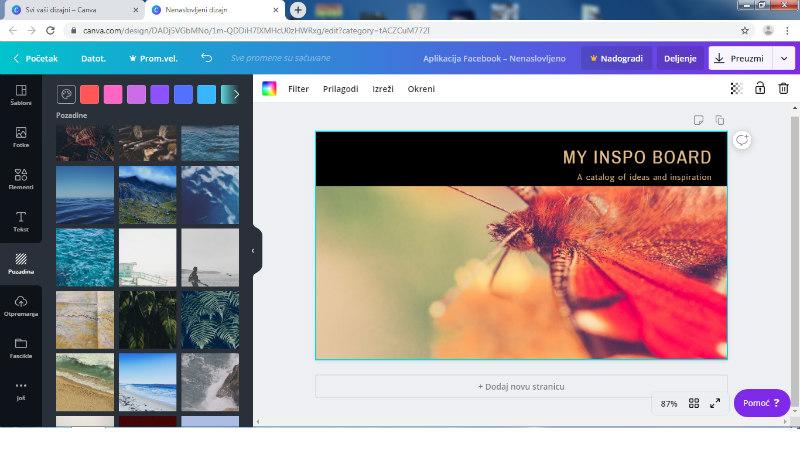 programi za obradu fotografija -Canva