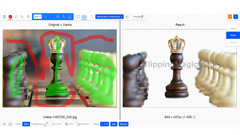 clipping magic alat za obradu fotografija