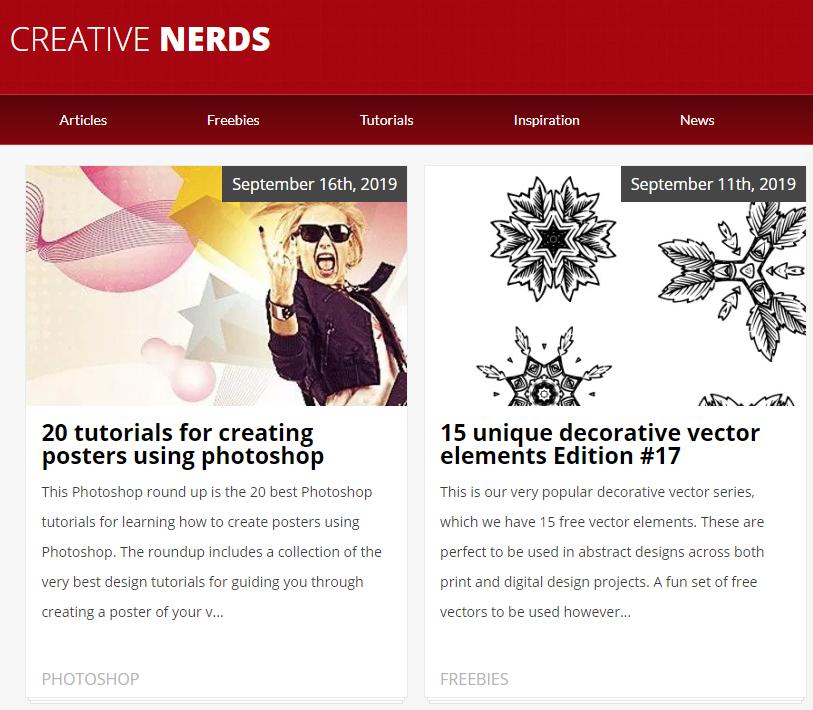 Creative Nerds preporuke i novosti iz svijeta grafičkog dizajna