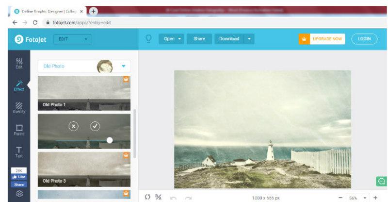 FotoJet alat za uređivanje fotografija