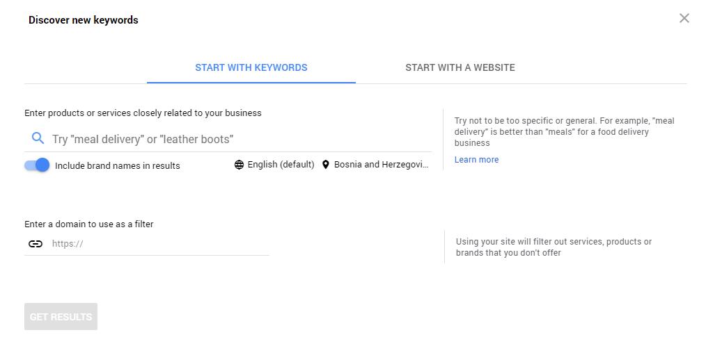 Google Keyword Planner besplatan alat za istraživanje ključnih riječi
