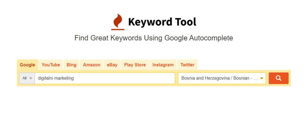 Keyword Tool SEO alat