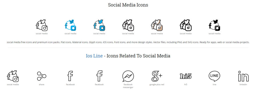 Socialoha!Icons ikonice za web dizajn