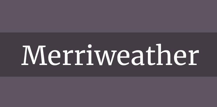 Merriweather font, besplatni resursi za web dizajn