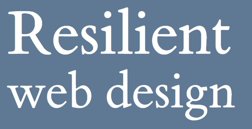 Resilient web design eknjiga za web dizajn