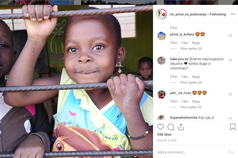 Afrička djevojčica - Instagram i emocije