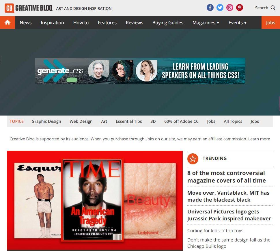 creative bloq sajt za učenje grafičkog dizajna