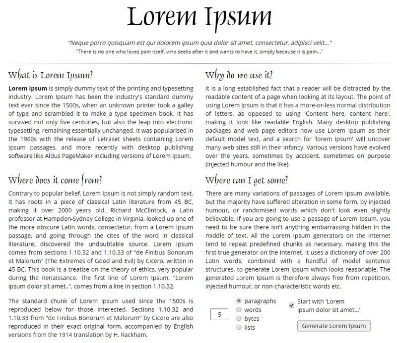 grafički dizajn lorem ipsum