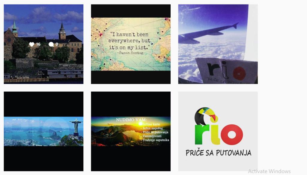 Rio priče sa putovanja Instagram počeci