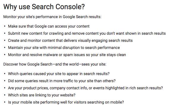 zašto koristiti google search console
