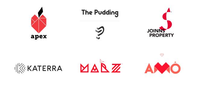 Logo dizajn trendovi za 2020. godinu - geometrijska slova