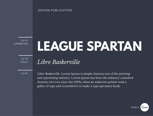 League Spartan x Libre Baskerville font