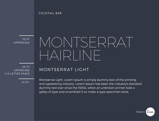 Monserrat Hairline font