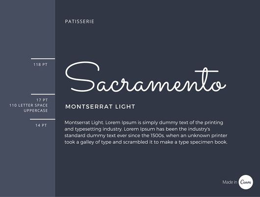 Sacramento x Monserrat Light font