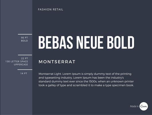 Bebas Neue Bold x Montserrat font