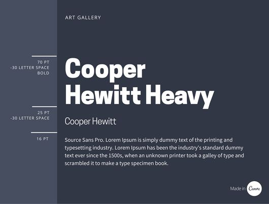 Cooper Hewitt Heavy font