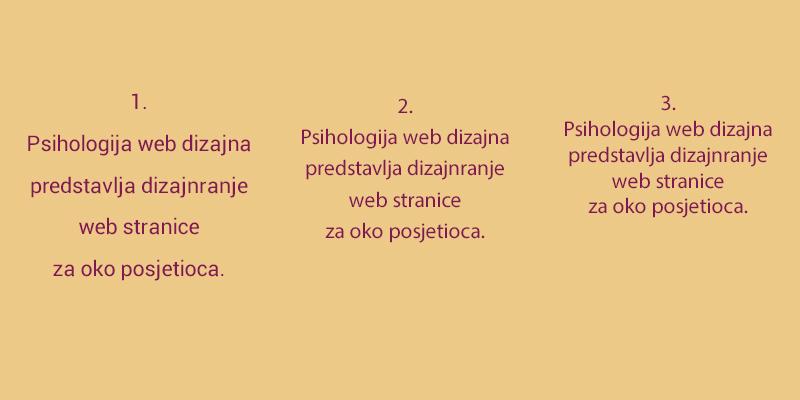 Slika pokazuje razliku prilikom čitanja koju nudi veći ili manji razmak između redova.